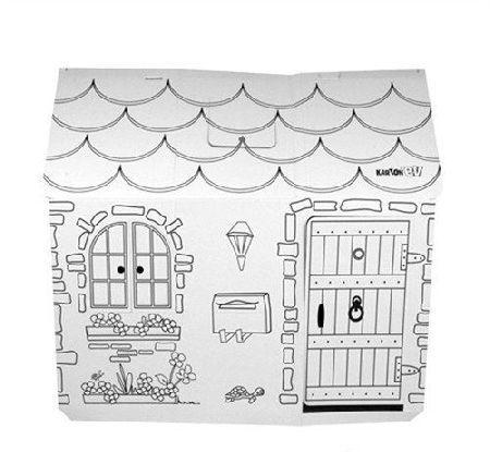 çocuklara özel Boyanabilir Karton Oyun Evi Fırsat Bu Fırsat