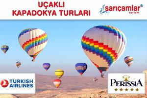 Sarıçamlar Turizm'den Ek Bedelsiz 1 Gece 5 Yıldızlı Perissia Hotel Konaklamalı Uçak Dahil Kapadokya Turu