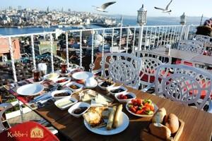 Kubbe-i Aşk'tan Haftanın Her Günü Geçerli Muhteşem Boğaz ve İstanbul Manzarasına Nazır Kişi Başı Enfes Serpme Kahvaltı Menüsü