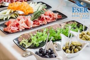 Eser Premium Hotel & Spa'da Enfes Açık Büfe Kahvaltı Menüsü