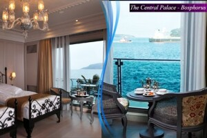 Tarabya The Central Palace Bosphorus'ta Bahçe veya Boğaz Manzaralı Oda Seçenekli Kahvaltı Dahil Çift Kişilik 1 Gece Konaklama