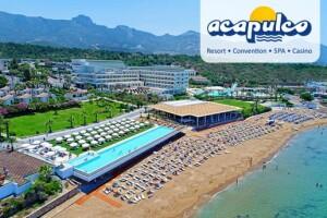 Kıbrıs Acapulco Resort Hotel'de Uçak Bileti Dahil Yarım Pansiyon 2 - 5 Gece Tatil