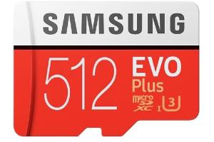 Samsung EVO Plus 512GB microSD Kart 100 MB/s MB-MC512GA/EU