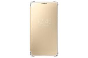 Samsung Galaxy A5 2016 (A510) Clear View Kılıf (Altın Sarısı)