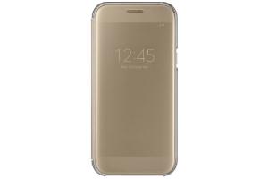 Samsung Galaxy A5 2017 Clear View Kılıf (Altın Sarısı)