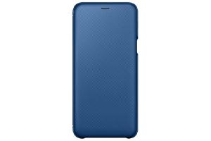 Samsung Galaxy A6+ Kapaklı Kılıf (Mavi)