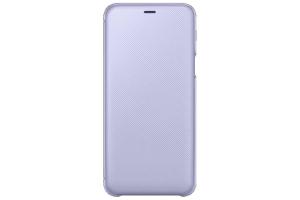 Samsung Galaxy A6+ Kapaklı Kılıf (Mor)