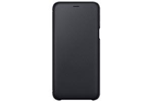 Samsung Galaxy A6+ Kapaklı Kılıf (Siyah)