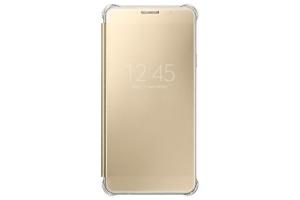 Samsung Galaxy A7 2016 (A710) Clear View Kılıf (Altın Sarısı)