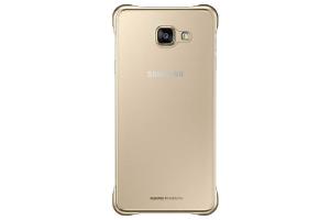 Samsung Galaxy A7 2016 (A710) Şeffaf Kılıf (Altın Sarısı)