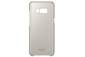 Samsung Galaxy S8 Şeffaf Koruyucu Kılıf (Altın Sarısı)