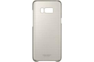 Samsung Galaxy S8+ Şeffaf Koruyucu Kılıf (Altın Sarısı)