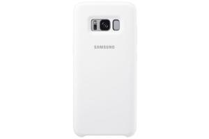 Samsung Galaxy S8+ Silikon Koruyucu Kılıf (Beyaz)