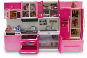 Oyuncak Mutfak Seti - Açılır Kapak, Pilli Işıklı ve Sesli 4 Parça 50x35cm