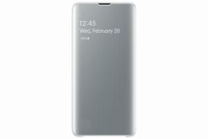 Samsung Galaxy S10 Beyaz Clear View Kılıf