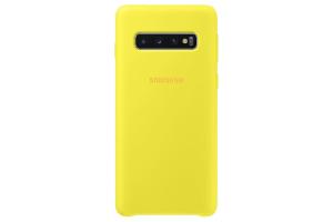 Samsung Galaxy S10 Sarı Silikon Kılıf