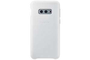 Samsung Galaxy S10e Beyaz Deri Kılıf