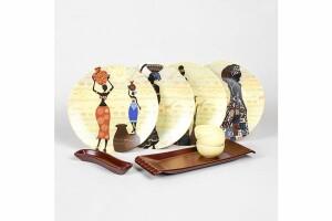 Keramika 4 Kişilik 15 Parça Afrikalı Kadınlar Serisi