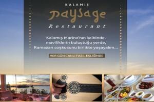 Kalamış Paysage Restaurant'tan Ramazan Ayına Özel Her Gün Canlı Fasıl Eşliğinde Enfes İftar Yemeği Menüsü