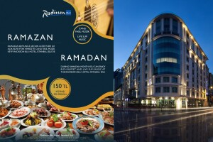 Radisson Blu Hotel Şişli'nin Şık Ambiyansında Canlı Fasıl ve Spesiyal Lezzetlerden Oluşan Kişi Başı Açık Büfe İftar Menüsü