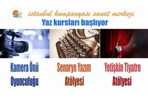 İstanbul Kumpanyası'ndan Senaryo Yazım Atölyesi, Kamera Önü Oyunculuk Atölyesi ve Yetişkin Tiyatro Çalışmaları