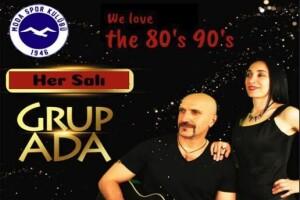 Moda Spor Kulübü Restaurant'ta Her Salı Grup Ada İle 80'ler 90'lar Gecesi ve Akşam Yemeği