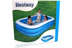 Pompa+Örtü,bestway 12819 - Büyük Boy Dikdörtgen Şişme Aile Havuz