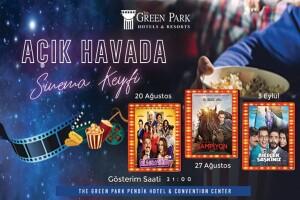 The Green Park Pendik Hotel & Convention Center'da Deniz ve Havuz Manzarasına Karşı Açık Havada Sinema Keyfi