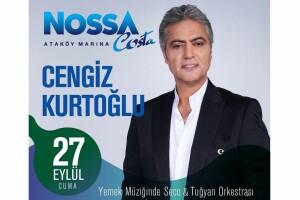 Ataköy Marina Nossa Costa'nın Kaliteli Atmosferinde 27 Eylül Gecesi Gerçekleşecek Limitsiz Yerli İçecek Eşliğinde Cengiz Kurtoğlu Sahnesi