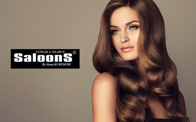 SaloonS Güzellik & Solaryum'dan L'Oreal Professional ve Schwarzkopf Ürünleri İle Dip Boya, Kesim, Bakım ve Fön Paketi