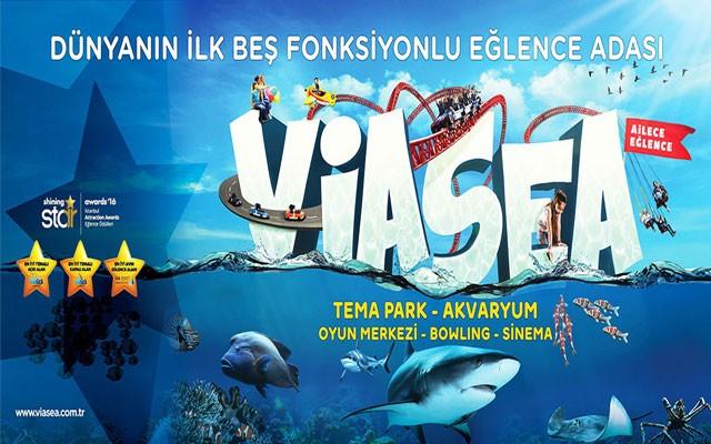 Viasea Tema Park ve Viasea Akvaryum'a Sınırsız Eğlence İçin Çocuk & Yetişkin Giriş Biletleri