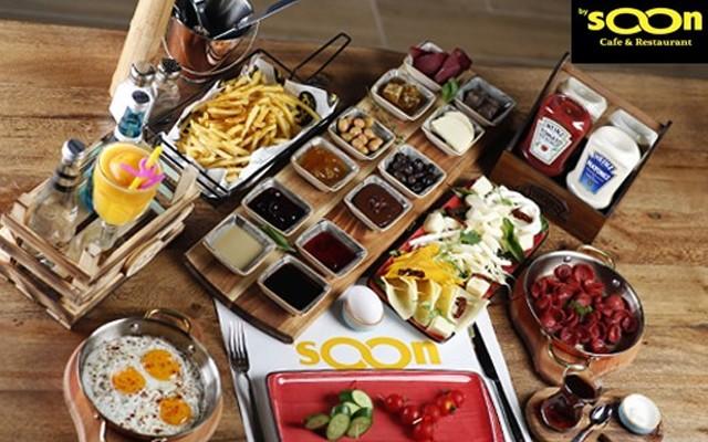 Beylikdüzü By Soon Cafe'de 2 Kişilik Serpme Kahvaltı Menüsü