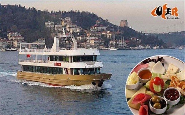 Lüfer Tekneleri İle Her Hafta Sonu 25 Çeşit Zengin Serpme Kahvaltı ve Boğaz Turu